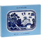 BLUE WILLOW PLACEMATS SET OF 4