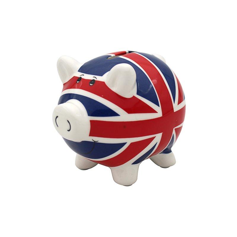 UNION JACK PIGGY MONEY BOX LGE