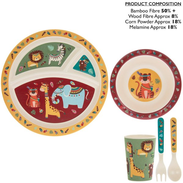 BAMBOO EATING SET JUNGLE