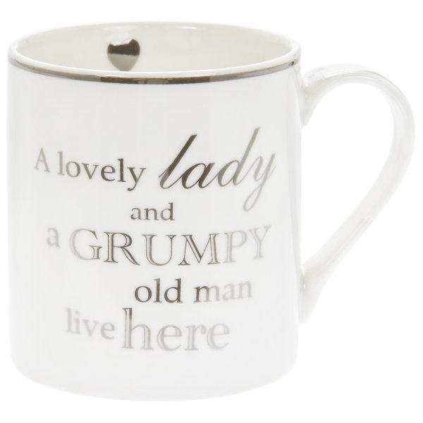 LOVELY LADY OLD MAN MUG