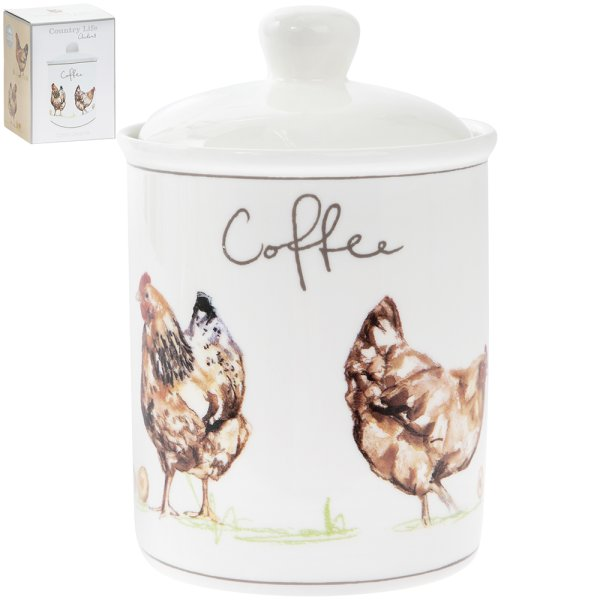 CHICKENS COFFEE CANISTER