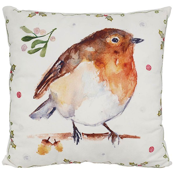 WINTER ROBINS LED CUSHION
