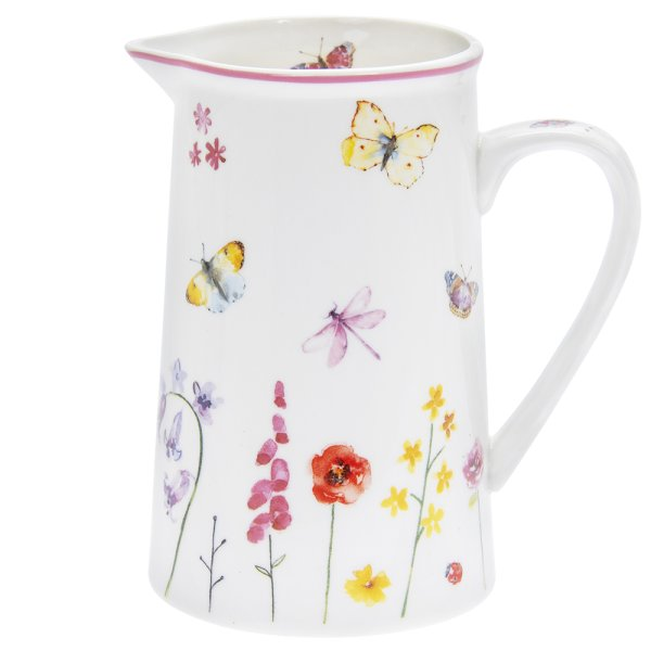 BUTTERFLY GARDEN JUG MEDIUM