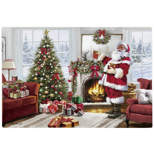 XMAS SANTA GLASS CUTTING BD L