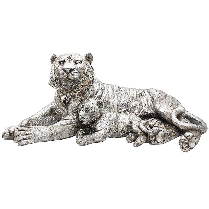 SILVER ART TIGER WITH CUB