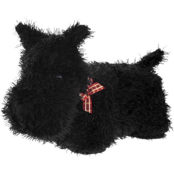 DOG DOORSTOP BLACK