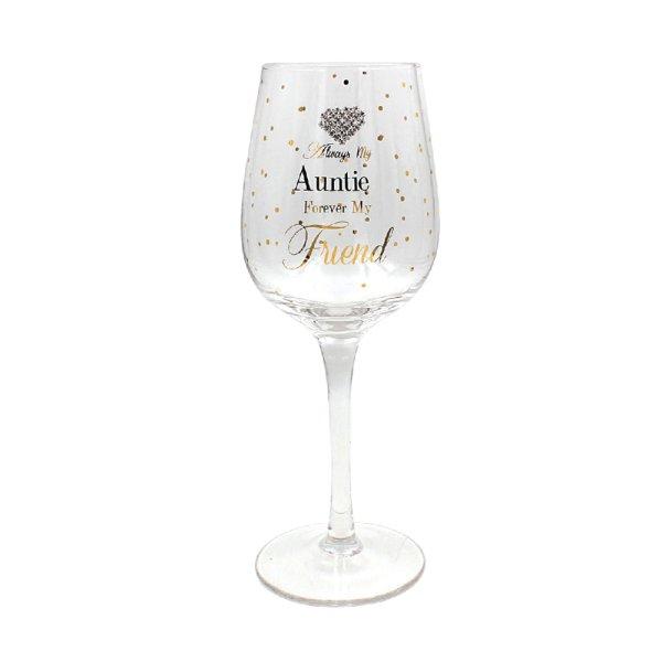 MADDOTS AUNTIE WINE GLASS