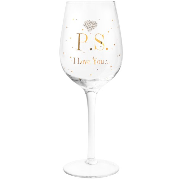 MAD DOTS P.S I LOVE YOU GLASS