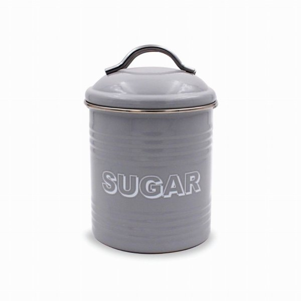 HSH GREY SUGAR CANISTER