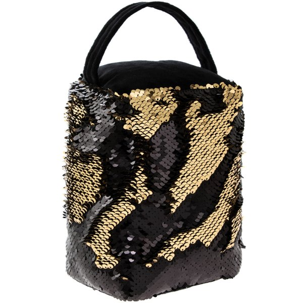 DOORSTOP GOLD/BLACK SEQUIN