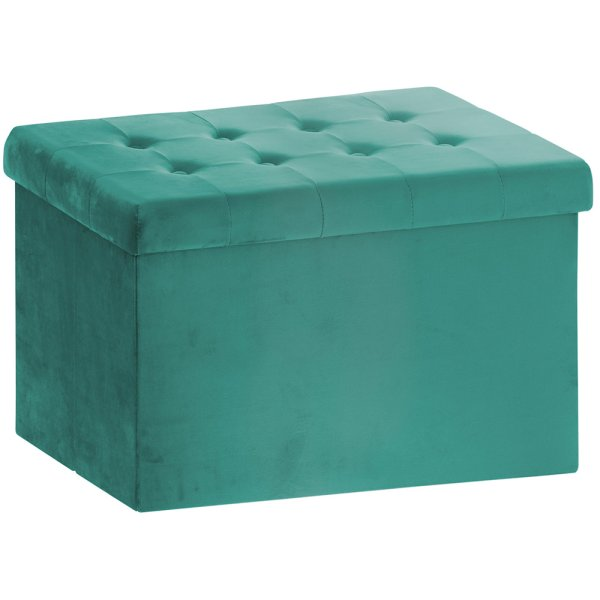 GREEN VELVET FOLDING BOX LARGE