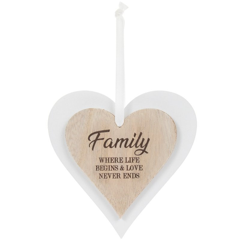 DBL HEART PLAQUE FAMILY
