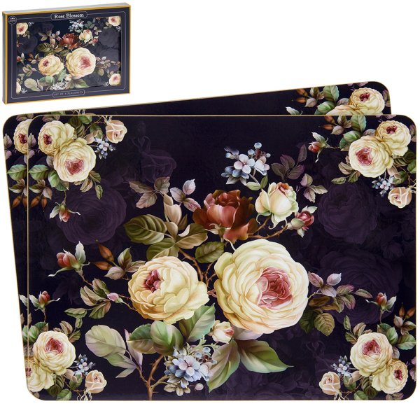 ROSE BLOSSOM PLACEMATS S/4