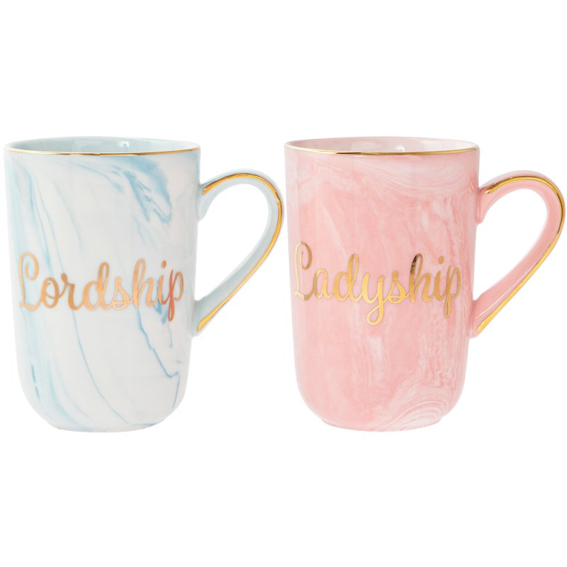 MARBLE&GOLDLORD/LADYSHIPMUGS2S