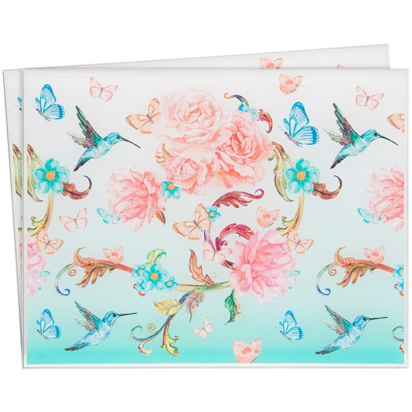 MIRROR BLOSSOM PLACEMAT SET 2