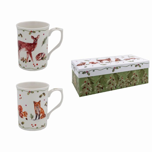 WINTER FOREST MUGS SET OF 2