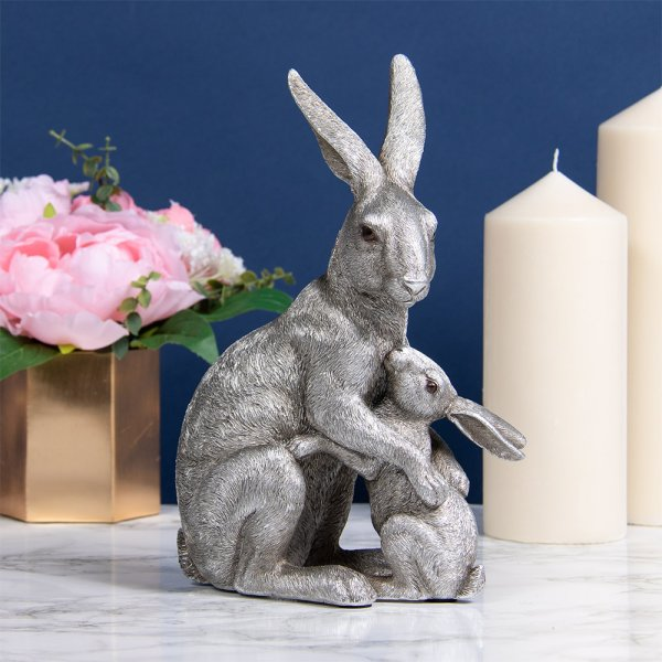 SILVER HARE & BABY