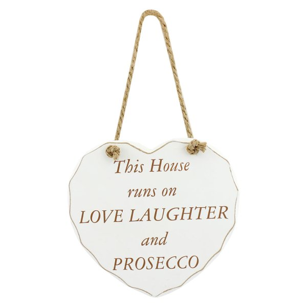 PROSECCO LOVE LAUGH HEART PLQ