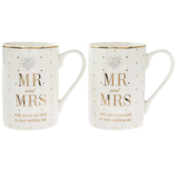 MAD DOTS MR&MRS WED DAY MUGS2S