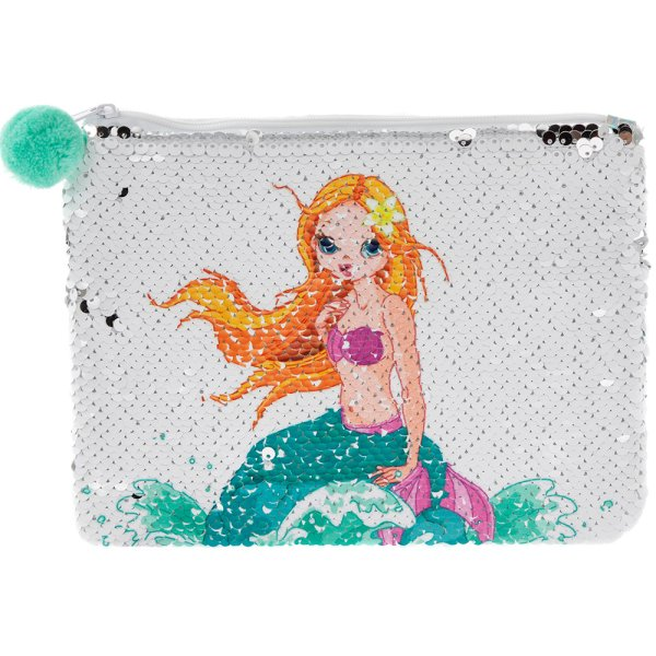 MERMAID SEQUIN COSMETIC POUCH