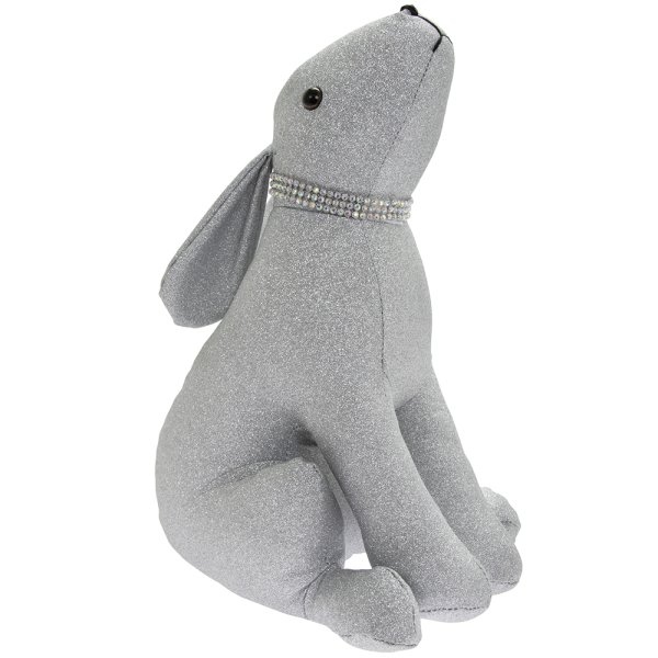SILVER BLING HARE DOORSTOP