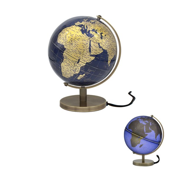 GLOBE GOLD & BLUE LIGHT UP
