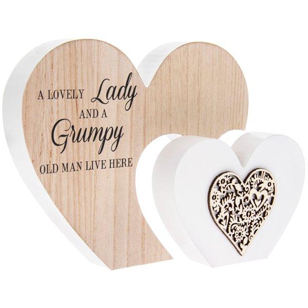 DBL HEART LOVELY LADY L
