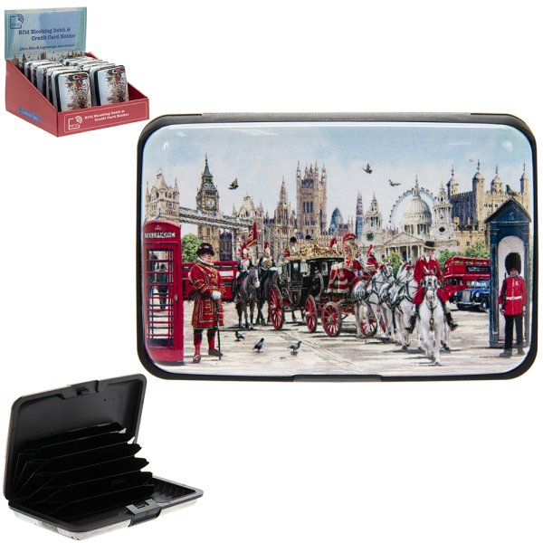 LONDON COLLAGE C CARD HOLDER