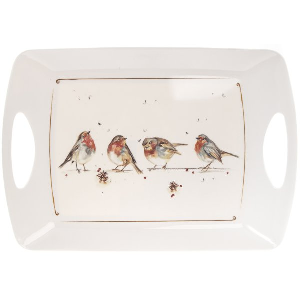 WINTER ROBINS LARGE TRAY