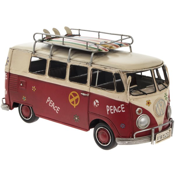 VINTAGE VW CAMPERVAN RED