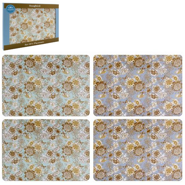 SONGBIRD PLACEMATS SET OF 4