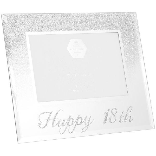 SIL GLITTER HAPPY18THFRAME 4X6