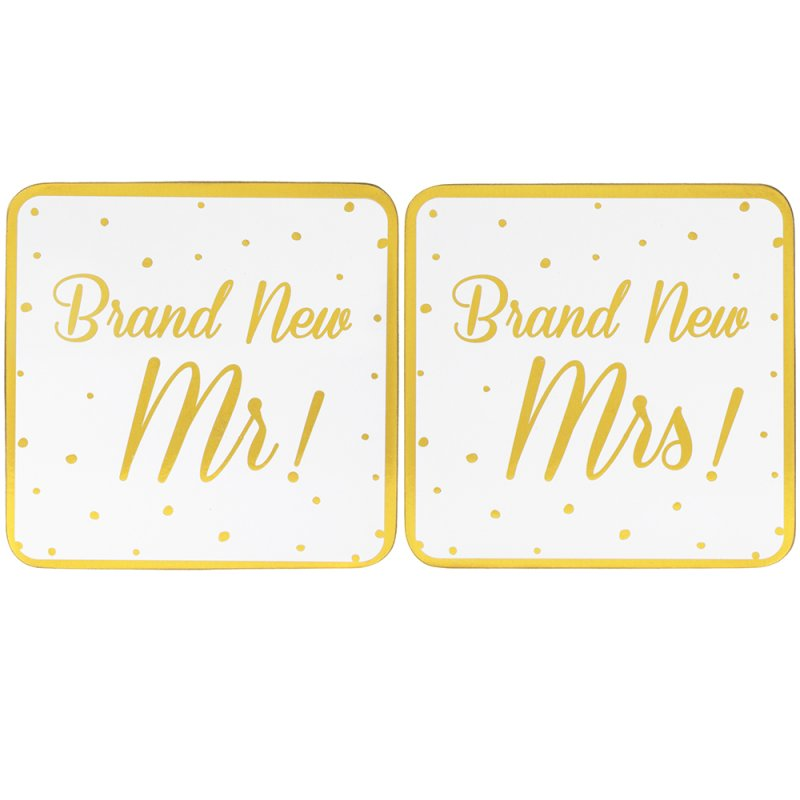 BRAND NEW MR&MRS COASTERS SET2