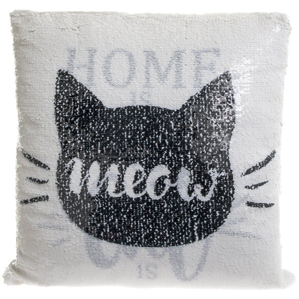 CAT SEQUIN CUSHION