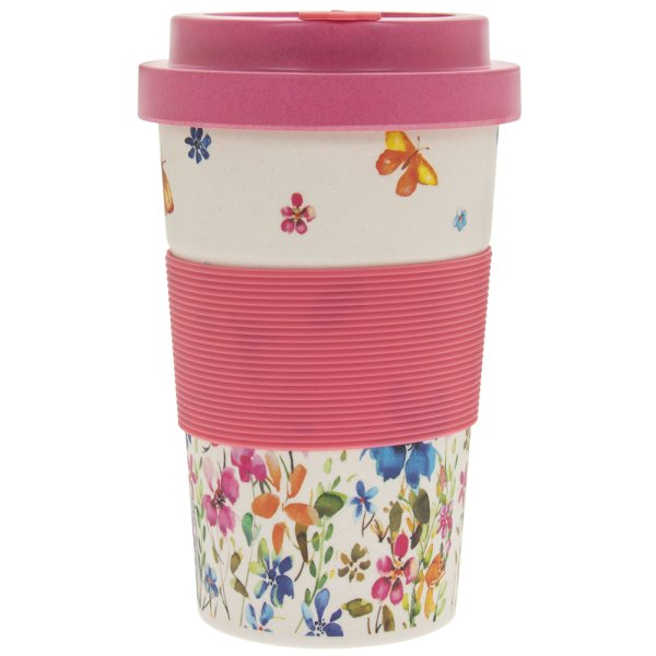 B FLY MEADOW BAMBOO TRAVEL MUG