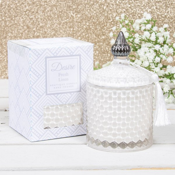 FRESH LINEN SOY CANDLE JAR