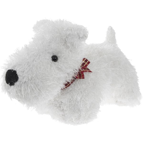 DOG DOORSTOP WHITE