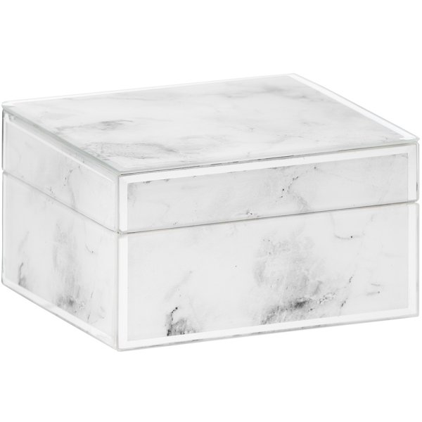 MIRROR MARBLE JEWELLERY BOX