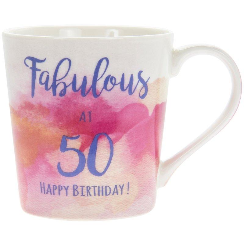 WATERCOLOUR HAPPY 50TH MUG