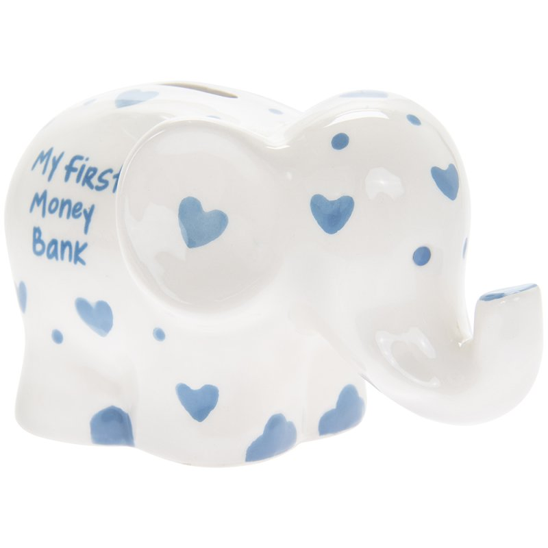 MY 1ST MONEY BOX ELEPHANT BLUE