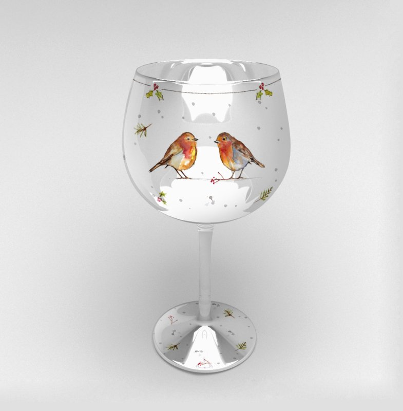 WINTER ROBIN GIN GLASS