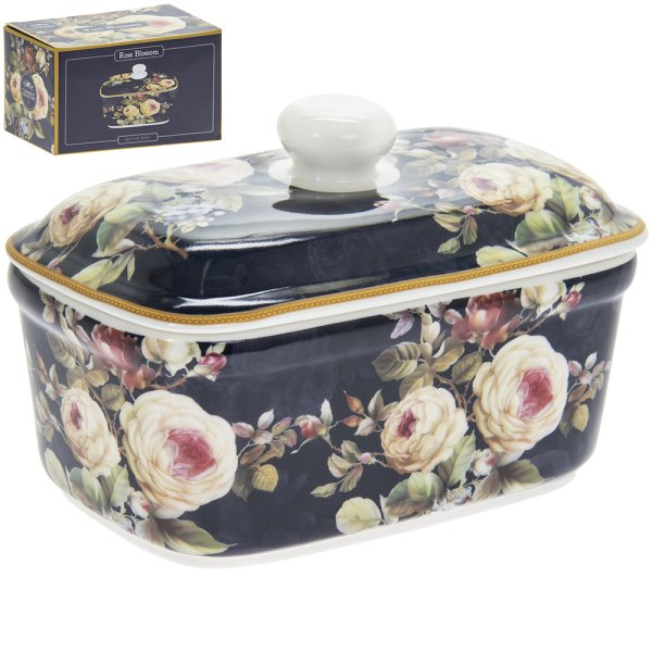 ROSE BLOSSOM BUTTER DISH