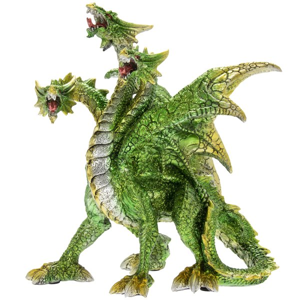 DRAGON WITH THREE HEADS GREEN