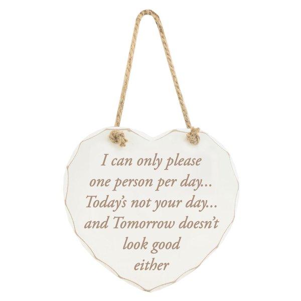 PLEASE ONE PERSON PER DAY PLAQ