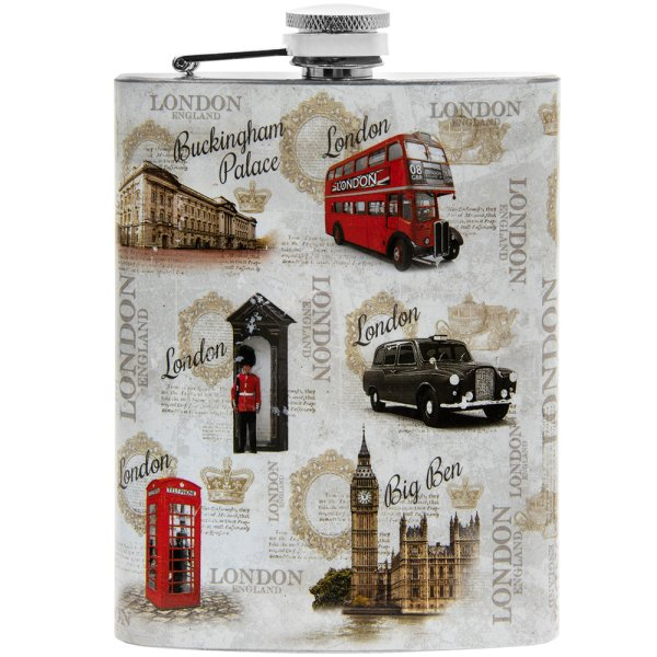 VINTAGE LONDON HIP FLASK