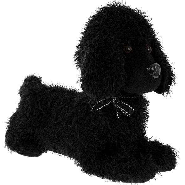 POODLE DOORSTOP BLACK