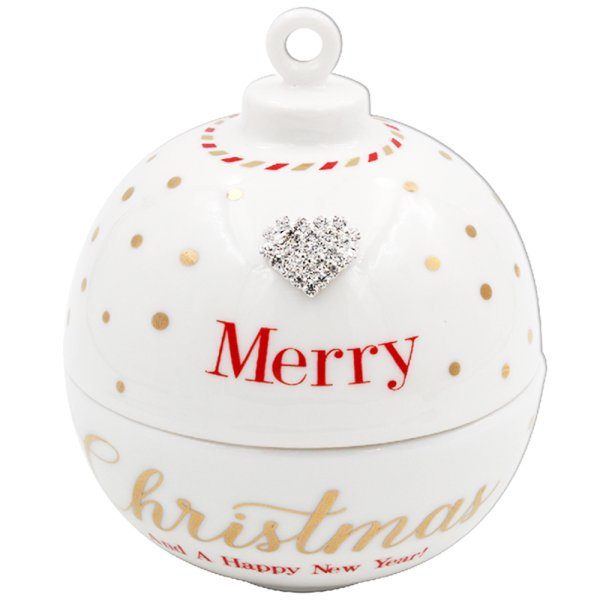 MAD DOTS XMAS BAUBLE CANDLE