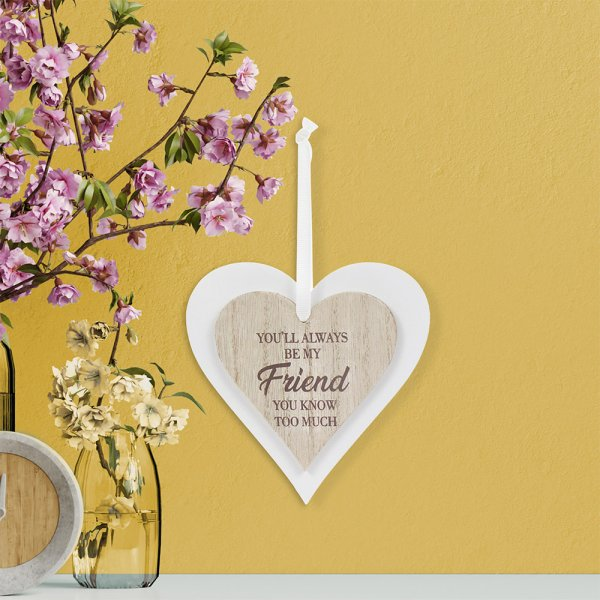 DOUBLE HEART PLAQUE FRIEND