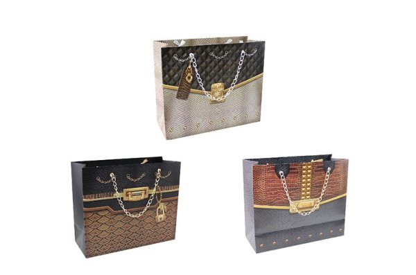 GIFT BAG CHAIN HANDLES 3ASST