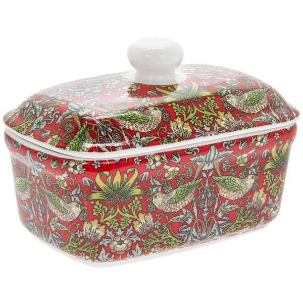 STRAWBERRY THIEF BUTTER DISH